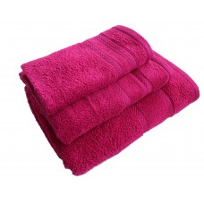 Terry towel Lux Supersoft 70x140cm 450g/m² fuxia