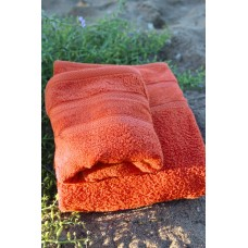 Terry towel Lux Supersoft 70x140cm 450g/m² orange