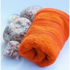 Terry towel Lux Supersoft 30x50cm 450g/m² orange