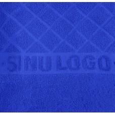 Logotowel 500gsm 70x140cm unicolour, terrytowel with jaquard logo 100% cotton