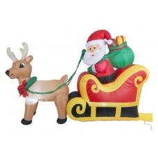 Pilgupüüdja Jõuluvana põhjapõdra ja saaniga 180cm