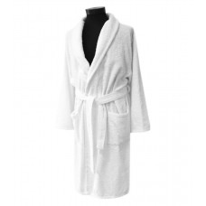 Terry bathrobe Hotel Unisex M-3XL white with collar