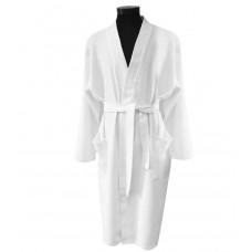 Waffle bathrobe Hotel Unisex white Kimono